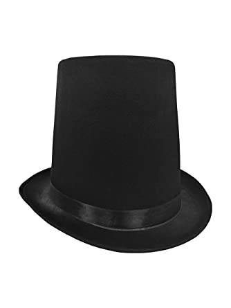 """e74c4a337dace9 8"""" Tall Abraham Lincoln Stovepipe Black Top Hat Steampunk Honest Abe  Costume. Roll over image to zoom in. Nicky Bigs Novelties"""
