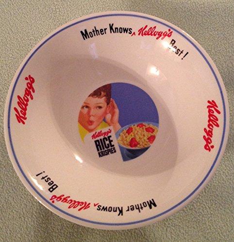 (Vintage Kellogg's Blue Boy Mother Knows Kellogg's Best Ceramic Cereal Bowl )