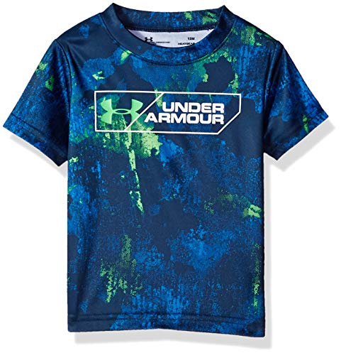 Under Armour Boys' Baby Short Sleeve Graphic Tee, Bedrock Academy, 24M