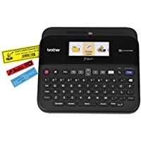 Brother P-touch, PTD600, PC-Connectable Label Maker, Color Display, High-Resolution PC Printing, Split-Back Tape, Black