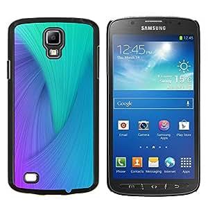 TECHCASE---Cubierta de la caja de protección para la piel dura ** Samsung Galaxy S4 Active i9295 ** --Remolino azul púrpura del trullo del pavo real colorido