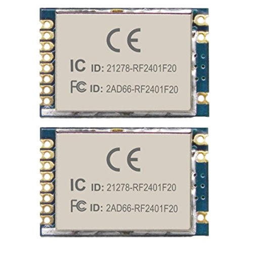 Wireless Transceiver Module FCC/CE/RoHS Certified RF2401F20 2.4G 2pcs by Luabby Smart
