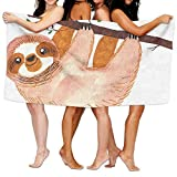 PMNADOU Unisex Sloth Beach Towels Washcloths Bath Towels For Teen Girls Adults Travel Towel Pool And Gym Use 31x51 Inches