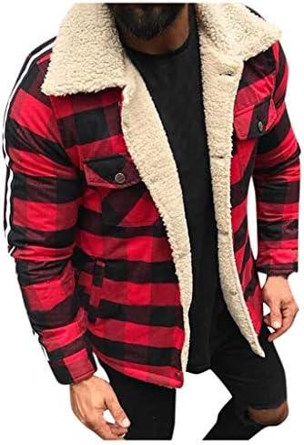 メンズファッションチェック柄複合カーディガンカジュアルブラウスプラッシュトップコート