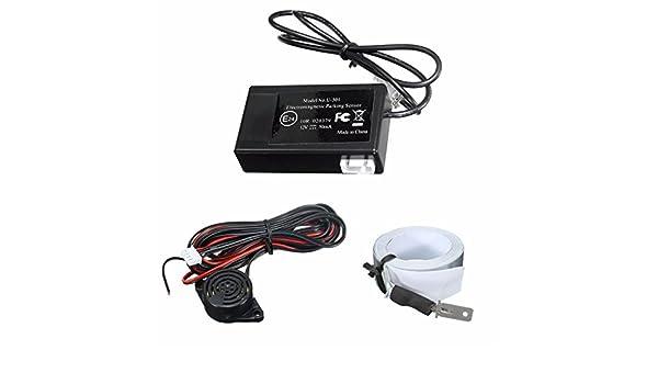 GOZAR Coche Eléctrico Aparcamiento Magnético Inversión Inversa Back Backup Sensor De Radar Dc 12V: Amazon.es: Hogar