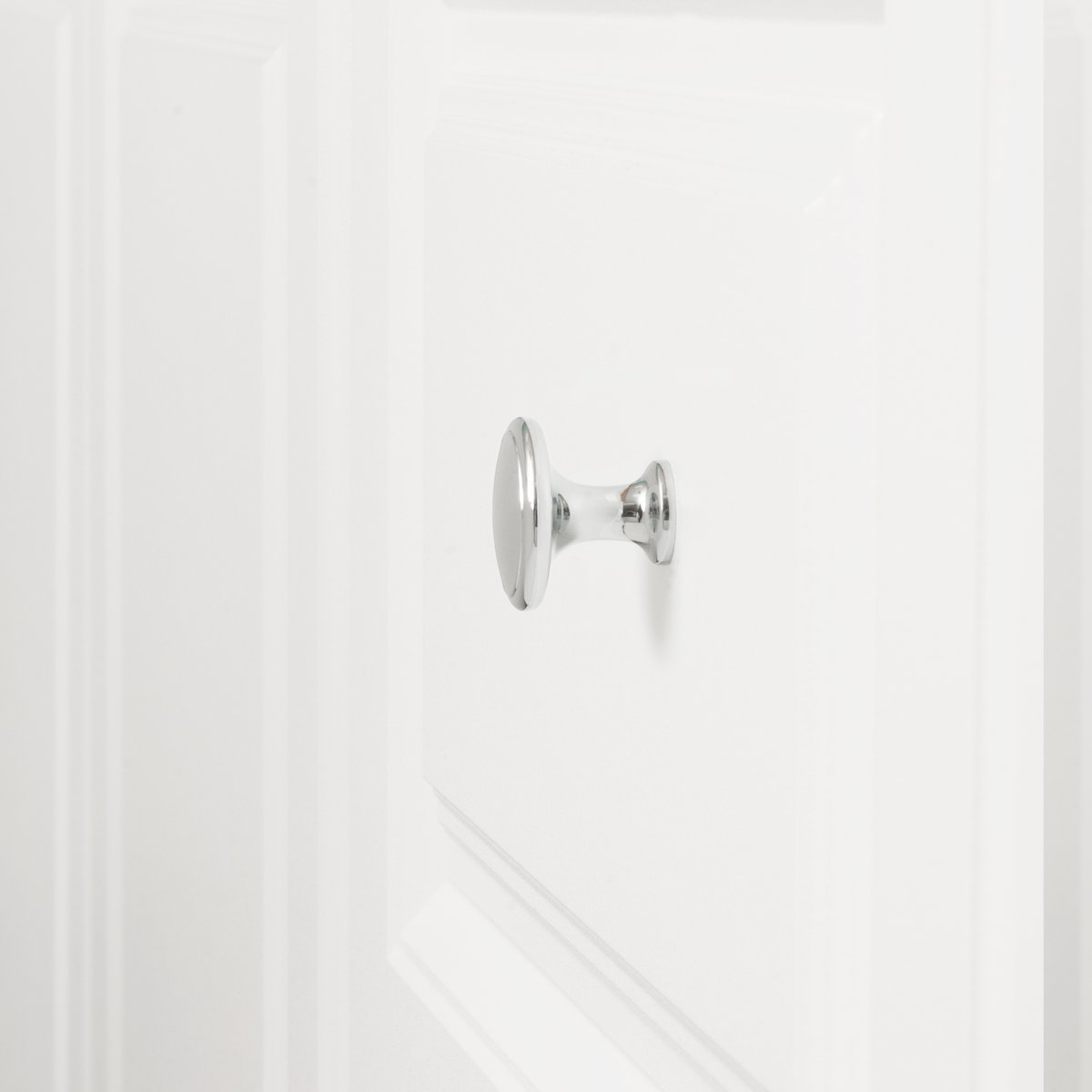 Basics Durchmesser: 2,95 cm mit runder Platte oben 25er-Pack modern M/öbelgriff Schubladenknopf Antik-Silber