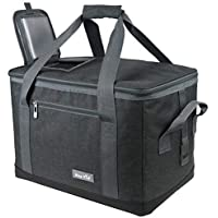 Hap Tim Soft Cooler Bag 40-Can Large Reusable Grocery Bags Soft Sided Collapsible Travel Cooler for Outdoor Travel Hiking Beach Picnic BBQ Party(AU 13634)