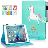 New iPad 9.7 Inch 2017 2018/ iPad Air 2 / iPad Air Case - Monstek Smart Flip Leather Stand Wallet Protective Case Auto Wake/Sleep Cover for iPad 9.7 Inch 2017 2018,iPad Air 1 2,03 Heart Pony