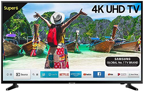 Samsung 108 cm (43 Inches) Super 6 Series 4K UHD LED Smart TV UA43NU6100 (Black) (2019 model)