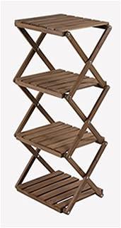 LQQGXL Scale di scaffalatura per ripiani comodini con ripiano comodino in legno massello bianco (41,5x31x90 cm) Stand di fiori ( Colore : Marrone )