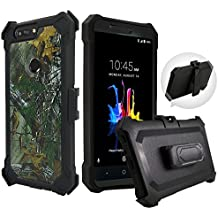 ZTE Blade Z MAX Case, ZTE ZMAX PRO 2 Case, ZTE Sequoia Case,Customerfirst, Shockproof Rugged Hybrid Armor Case Cover with Belt Clip Holster & Built-in Screen Protector (Camo)