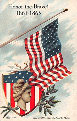 "Civil War Military""Honor the Brave"" Patriotic Vintage Postcard JA454904"