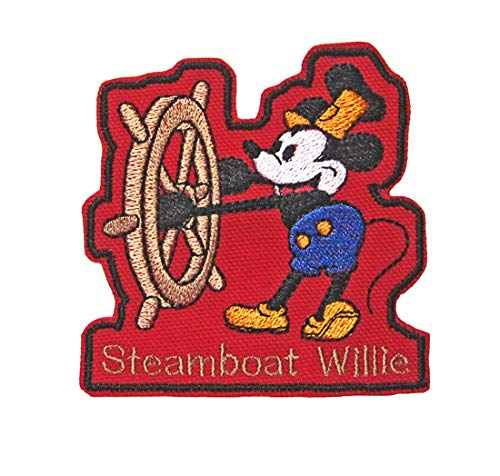Steamboat Willie Mickey Mouse Disney Embroidered Iron On Sew On Novelty Patch Collectible