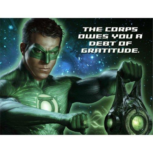Green Lantern Party Thank You Notes