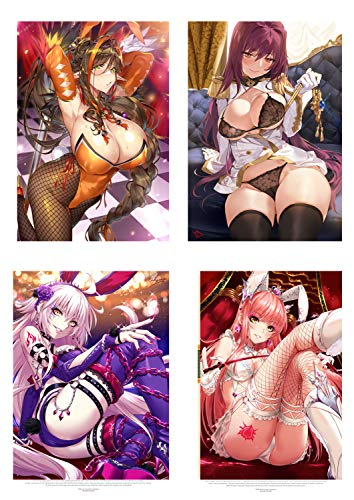 MS Fun Love of Ecchi Cosplay Poster Hot Bikini Lingerie Japanese Anime Sexy Girl Posters,16 x 20 Inches,Set of 4 Posters