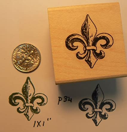 Image Unavailable Not Available For Color Fleur De Lis Rubber Stamp