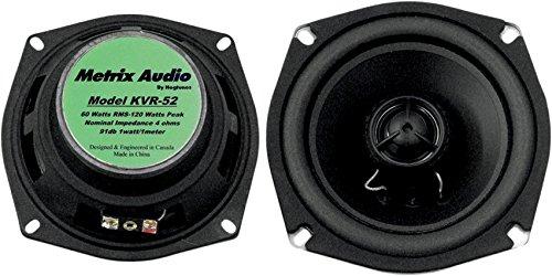 Metrix KVR-52 Green Front Speaker (Fits Kawasaki Vaquero & Voyager (09-UP) VN1700A Works on bikes,& UTVs, ATVs, etc.)