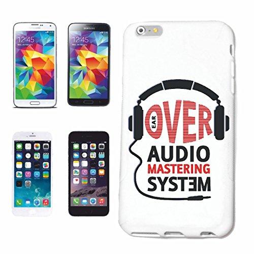 """cas de téléphone iPhone 6+ Plus """"SUR SYSTEME AUDIO CASQUE TECHNO JAZZ FUNKY SOUL TRANCE FESTIVAL HOUSE HIPHOP HIP HOP DJ"""" Hard Case Cover Téléphone Covers Smart Cover pour Apple iPhone en blanc"""