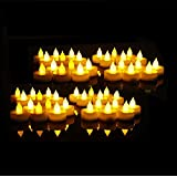 EverBrite Pack of 48 Realistic and Bright Battery Operated Flickering Flameless Tea Light Led Candles, Small Electric Fake Candles Realistic for Wedding, Table, Dinner, Outdoor