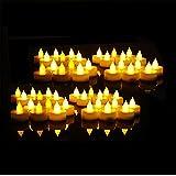 EverBrite Candele a LED 48pcs Lumini da Tè Tealight Elettrica Luce Calda Senza Fiamme con Batterie Adatte per Decorazione di Casa, Compleanno, Matrimonio, ecc.