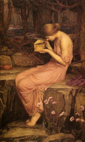 (WONDERFULITEMS PSYCHE OPENING THE GOLDEN BOX 1903 BY WATERHOUSE 10