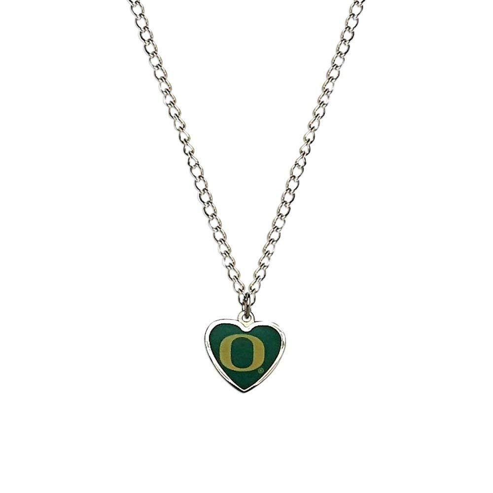 3//4 Antique Finish Sterling Silver Logo College Jewelry University of Oregon Ducks Charm