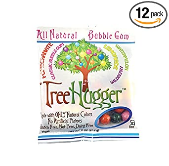 Tree Hugger Fruit Bubble Gum, 2 Ounce (Pack of 12)