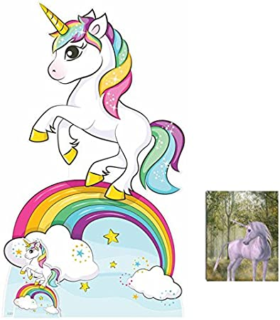 Fantasy Rainbow Unicorn Lifesize And Mini Cardboard Cutout Standup Standee Sfhs Org