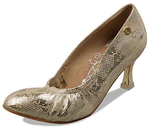 Aplus Scarpe Da Ballo Per Donna Da Ballo A5013 Con 2,5 Tacco In Oro