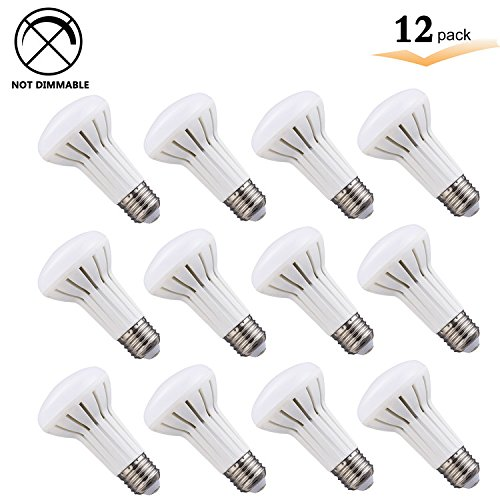 - BR20 LED Flood Light Bulb, 5W (50W Halogen Equivalent), Daylight White 5000K, Indoor Outdoor R20 LED Non Dimmable Flood Lamp, Kitchen,Bathroom Light Bulb Damp Rated, E26 Medium Base (Pack of 12)