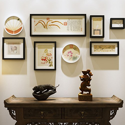 Wooden Living Room Photo Wall Creative Simple Large-size Photo Frame Combination ( Color : A ) by AI XIN SHOP