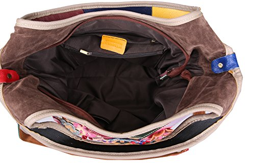 Heshe Tote Purses Hobo Style Body Summer with Handbags Bags Colorful Shoulder Women's 2B4021 Cross Flower xrYw1qr8