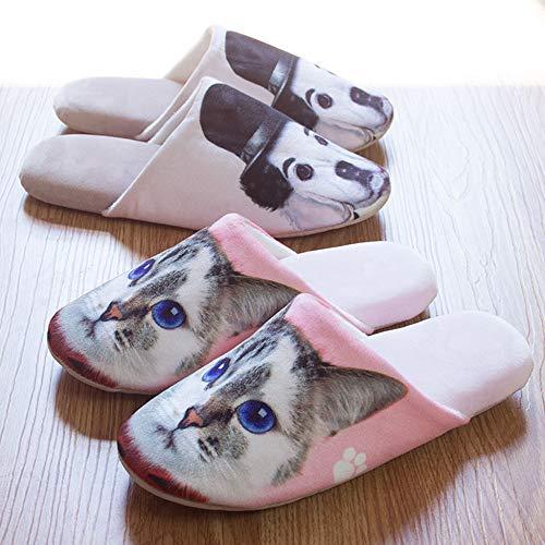 Cotone 3d House Slippers Suola Inverno Paio Memory In Pantofole Interno Dipinto Antiscivolo Scarpe Caldo C Donna Animali Di Moda Gomma Foam Da Cartoon OWWqR1S