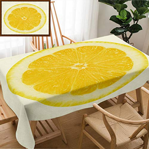 (Skocici Unique Custom Design Cotton and Linen Blend Tablecloth Juicy Yellow Lemon On A White Background IsolatedTablecovers for Rectangle Tables, 78