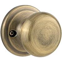 Kwikset Juno Half-Dummy Knob in Antique Brass by Kwikset