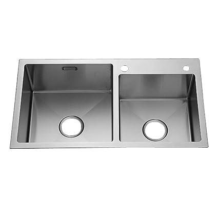 Lavello manuale in acciaio inox lavello da appoggio cucina ...