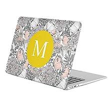 "[ M - INITIAL ] [ Name Monogram Full Body Hard Case ][ Apple MacBook Air 13"" (Model: A1369 / A1466 ) ] - [ Vintage Hawaii Flowers ]"