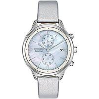 Ladies' Citizen Eco-Drive Chandler Silver Vegan Leather Watch FB2000-03D