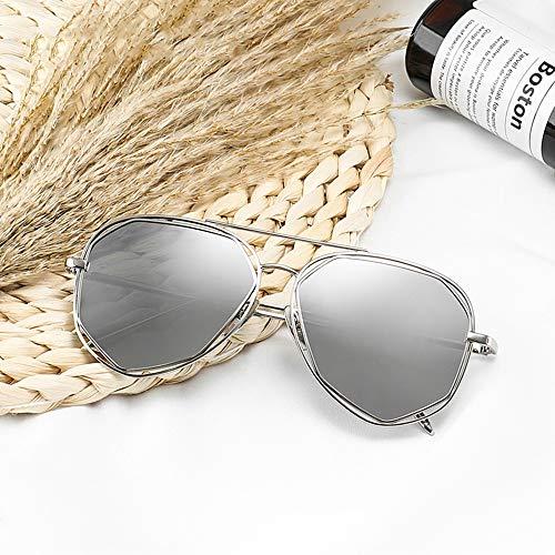 Mujer De con Gafas Marca De De De Gafas FKSW Sol Gafas Gafas Doble De Sol Diseñador Haz Sol De Sol De Metal De qAazO0
