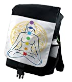 Lunarable Sacred Geometry Backpack, Meditation Chakra, Durable All-Purpose Bag