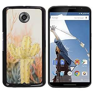 Be Good Phone Accessory // Dura Cáscara cubierta Protectora Caso Carcasa Funda de Protección para Motorola NEXUS 6 / X / Moto X Pro // Cactus Desert Sun Thorns Plants Nature