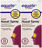 Equate - Nasal Spray, Original (compare To Afrin), 1-Ounce (Pack of 2)