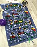 Kids Rugs by-Handcraft Rugs-My City Pattern Grey and Multi Color Anti Slip Rug Car kids rugs Game Carpets for Kids Toy Kids learning rug Kids Floor Rug (Approximately 8 feet by 10 feet)
