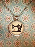 Sewing Machine Necklace, Vintage, Seamstress, Sew, Steampunk