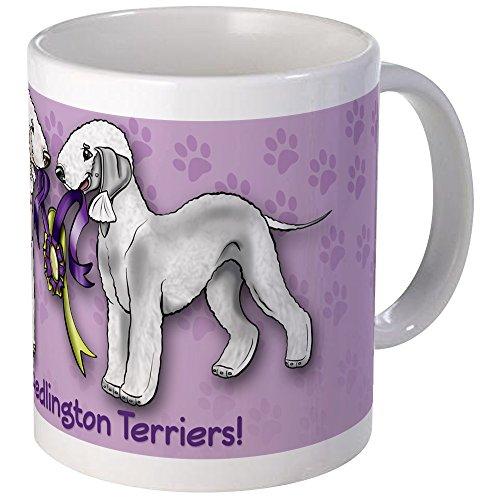 (CafePress Bedlington Terriers With Ribbon Mug Unique Coffee Mug, Coffee Cup )