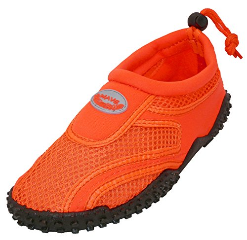 Cambridge Select Donna Slip-on In Nylon A Punta Chiusa, Quick Dry Sandalo Antiscivolo Con Coulisse Arancione Neon