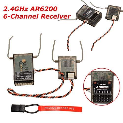 FidgetKute AR6200 6 Channel DSM2 2.4GHz Receiver Ultralite for Spektrum Spek Generic