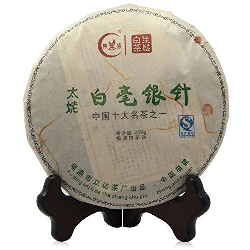 Lida - 2012yr Top Quality Fujian Bai Hao Yin Zhen - Bai Hao Silver Needle Compressed White Tea Cake - 250g/8.8oz by Lida