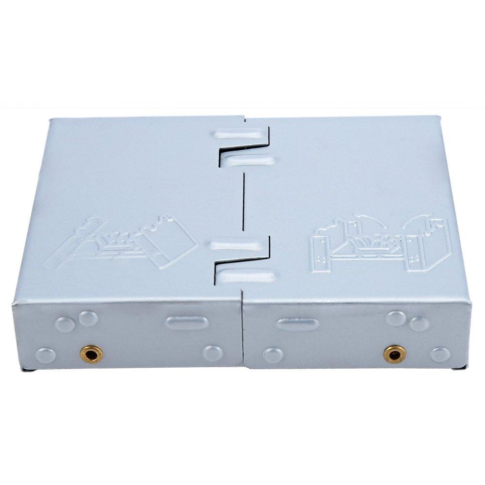 Fjiujin,Estufa de Cera portátil para cocinar al Aire Libre Plegable para Acampar(Color:Plata)