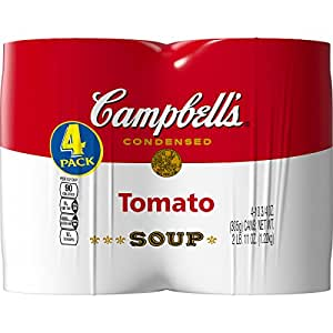 Campbell's Condensed Soup, Tomato, 10.75 Ounce, 4 Count (Pack of 6)